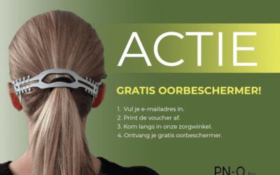Gratis oorbeschermer voor mondmasker