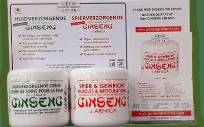 Ginseng crème voor een verzorgde huid en gezonde spieren
