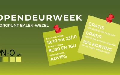 Opendeurweek zorgwinkel van 19 – 23 oktober!